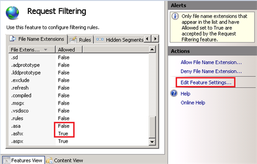 XGlobe - Allow or Deny specific file extensions in iis7
